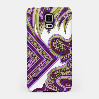Thumbnail image of Wandering Abstract Line Art 47: Purple Samsung Case, Live Heroes