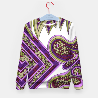 Thumbnail image of Wandering Abstract Line Art 47: Purple Kid's sweater, Live Heroes