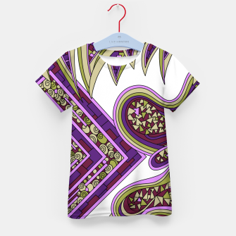 Thumbnail image of Wandering Abstract Line Art 47: Purple Kid's t-shirt, Live Heroes