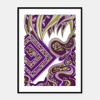 Thumbnail image of Wandering Abstract Line Art 47: Purple Framed poster, Live Heroes