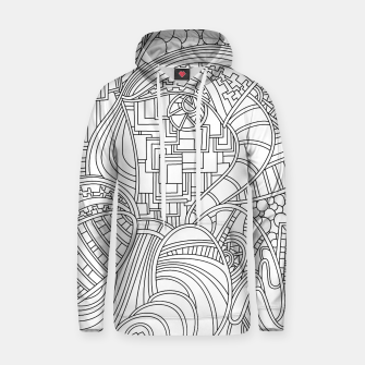 Thumbnail image of Wandering Abstract Line Art 48: Black & White Hoodie, Live Heroes