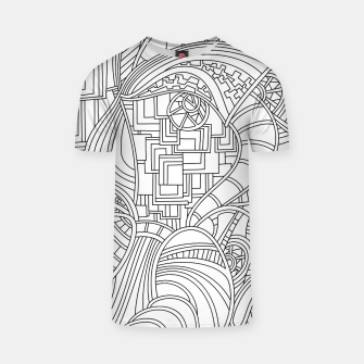 Thumbnail image of Wandering Abstract Line Art 48: Black & White T-shirt, Live Heroes