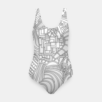 Thumbnail image of Wandering Abstract Line Art 48: Black & White Swimsuit, Live Heroes