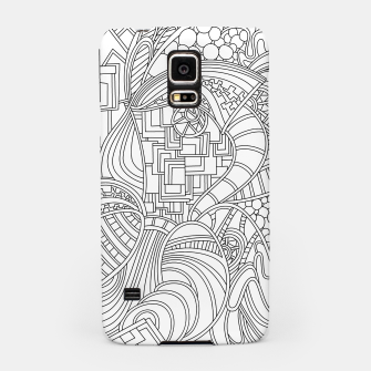 Thumbnail image of Wandering Abstract Line Art 48: Black & White Samsung Case, Live Heroes
