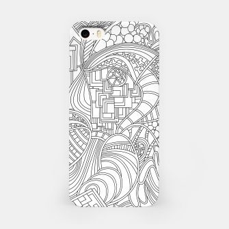 Thumbnail image of Wandering Abstract Line Art 48: Black & White iPhone Case, Live Heroes