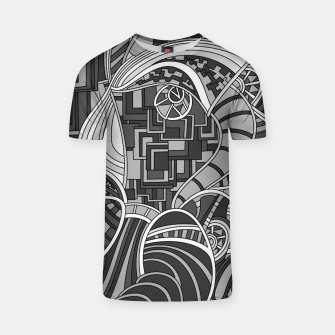 Miniatur Wandering 48: grayscale T-shirt, Live Heroes