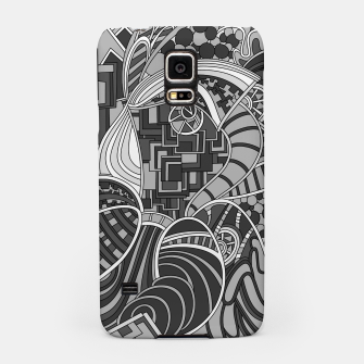 Thumbnail image of Wandering Abstract Line Art 48: Grayscale Samsung Case, Live Heroes