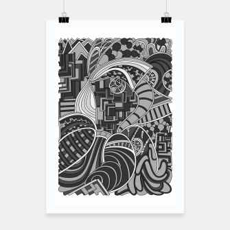 Thumbnail image of Wandering Abstract Line Art 48: Grayscale Poster, Live Heroes