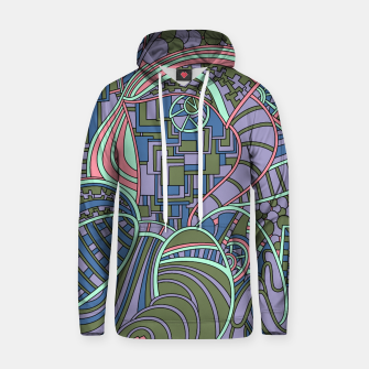 Thumbnail image of Wandering Abstract Line Art 48: Green Hoodie, Live Heroes
