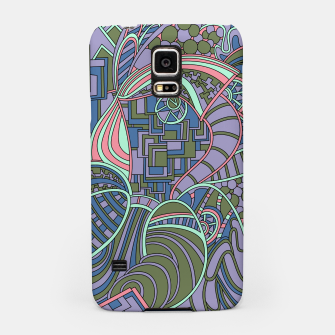 Thumbnail image of Wandering Abstract Line Art 48: Green Samsung Case, Live Heroes