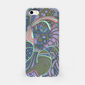 Thumbnail image of Wandering Abstract Line Art 48: Green iPhone Case, Live Heroes