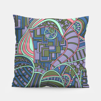 Thumbnail image of Wandering Abstract Line Art 48: Green Pillow, Live Heroes