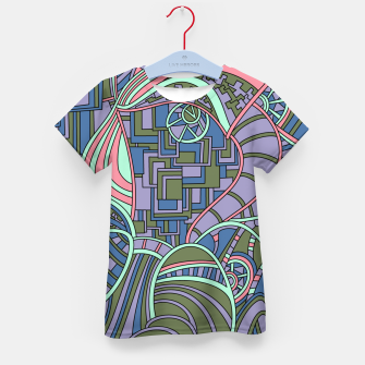 Thumbnail image of Wandering Abstract Line Art 48: Green Kid's t-shirt, Live Heroes
