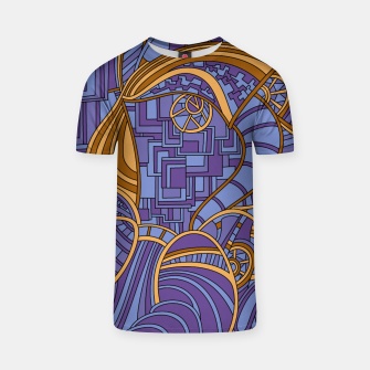 Thumbnail image of Wandering Abstract Line Art 48: Purple T-shirt, Live Heroes