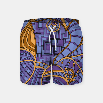 Thumbnail image of Wandering Abstract Line Art 48: Purple Swim Shorts, Live Heroes