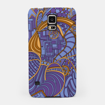 Thumbnail image of Wandering Abstract Line Art 48: Purple Samsung Case, Live Heroes