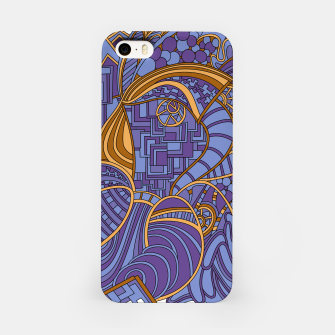 Thumbnail image of Wandering Abstract Line Art 48: Purple iPhone Case, Live Heroes