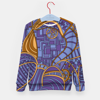 Thumbnail image of Wandering Abstract Line Art 48: Purple Kid's sweater, Live Heroes