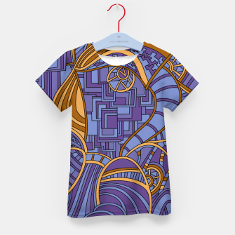 Thumbnail image of Wandering Abstract Line Art 48: Purple Kid's t-shirt, Live Heroes