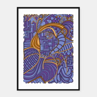 Thumbnail image of Wandering Abstract Line Art 48: Purple Framed poster, Live Heroes