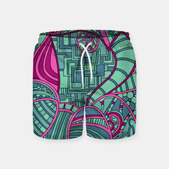 Thumbnail image of Wandering Abstract Line Art 48: Magenta Swim Shorts, Live Heroes