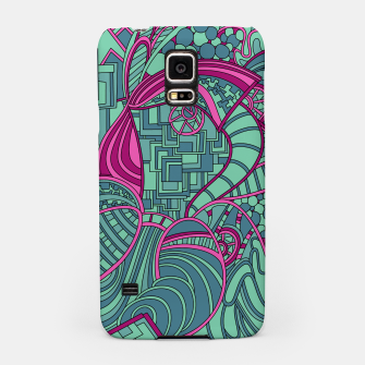 Thumbnail image of Wandering Abstract Line Art 48: Magenta Samsung Case, Live Heroes