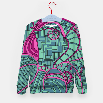 Thumbnail image of Wandering Abstract Line Art 48: Magenta Kid's sweater, Live Heroes