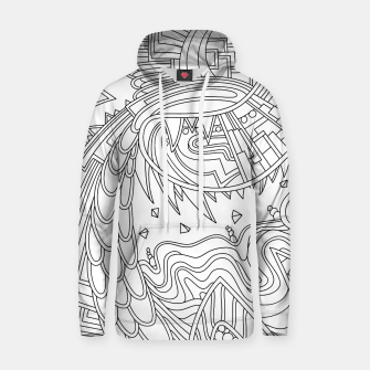 Thumbnail image of Wandering Abstract Line Art 49: Black & White Hoodie, Live Heroes