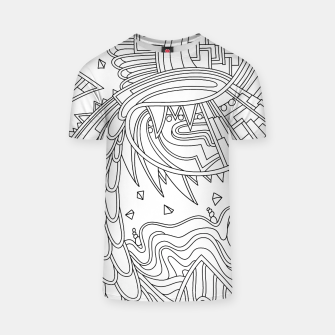 Thumbnail image of Wandering Abstract Line Art 49: Black & White T-shirt, Live Heroes