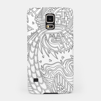 Thumbnail image of Wandering Abstract Line Art 49: Black & White Samsung Case, Live Heroes