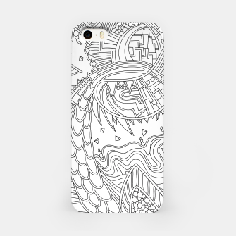 Thumbnail image of Wandering Abstract Line Art 49: Black & White iPhone Case, Live Heroes