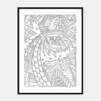 Thumbnail image of Wandering Abstract Line Art 49: Black & White Framed poster, Live Heroes