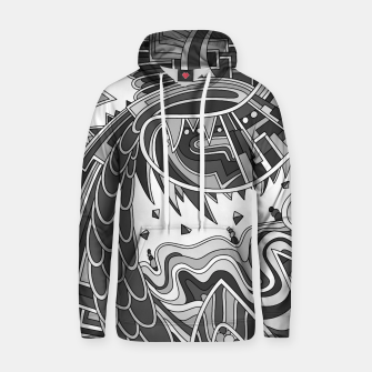 Thumbnail image of Wandering Abstract Line Art 49: Grayscale Hoodie, Live Heroes