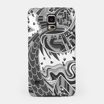 Thumbnail image of Wandering Abstract Line Art 49: Grayscale Samsung Case, Live Heroes
