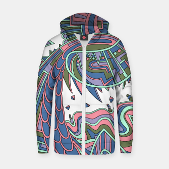 Thumbnail image of Wandering Abstract Line Art 49: Coral Zip up hoodie, Live Heroes