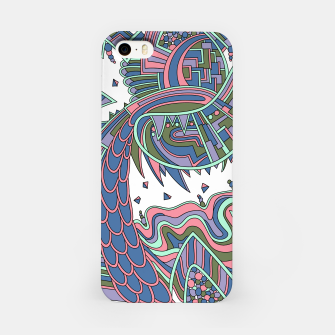 Thumbnail image of Wandering Abstract Line Art 49: Coral iPhone Case, Live Heroes
