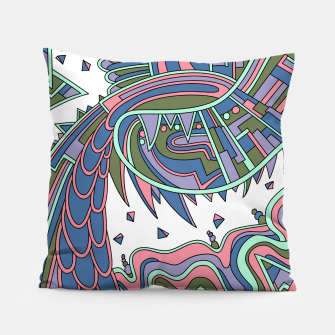 Thumbnail image of Wandering Abstract Line Art 49: Coral Pillow, Live Heroes