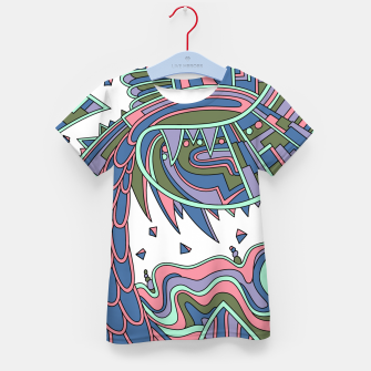 Thumbnail image of Wandering Abstract Line Art 49: Coral Kid's t-shirt, Live Heroes