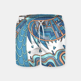 Thumbnail image of Wandering Abstract Line Art 49: Blue Swim Shorts, Live Heroes