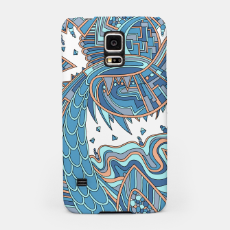 Thumbnail image of Wandering Abstract Line Art 49: Blue Samsung Case, Live Heroes
