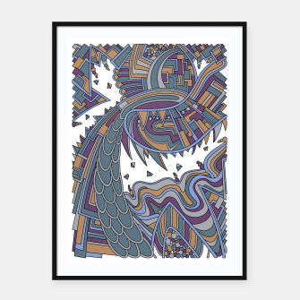 Thumbnail image of Wandering Abstract Line Art 49: Gold Framed poster, Live Heroes