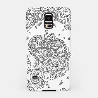 Thumbnail image of Wandering Abstract Line Art 50: Black & White Samsung Case, Live Heroes
