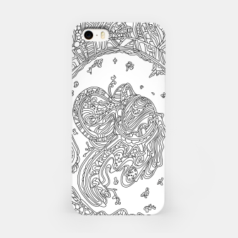 Thumbnail image of Wandering Abstract Line Art 50: Black & White iPhone Case, Live Heroes