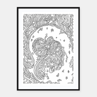 Thumbnail image of Wandering Abstract Line Art 50: Black & White Framed poster, Live Heroes