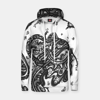 Thumbnail image of Wandering Abstract Line Art 50: Grayscale Hoodie, Live Heroes
