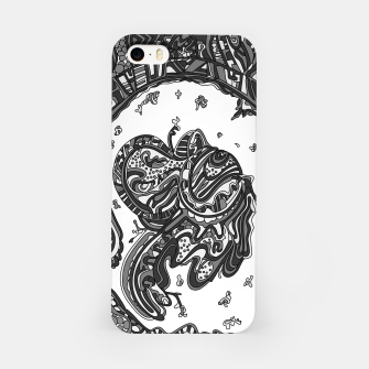 Thumbnail image of Wandering Abstract Line Art 50: Grayscale iPhone Case, Live Heroes