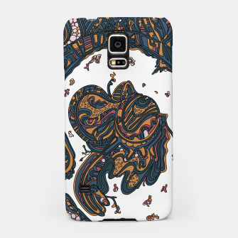 Thumbnail image of Wandering Abstract Line Art 50: Yellow Samsung Case, Live Heroes