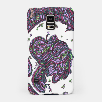 Thumbnail image of Wandering Abstract Line Art 50: Pink Samsung Case, Live Heroes
