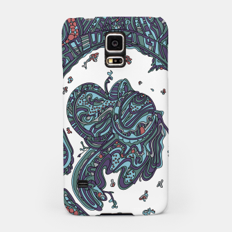 Thumbnail image of Wandering Abstract Line Art 50: Blue Samsung Case, Live Heroes