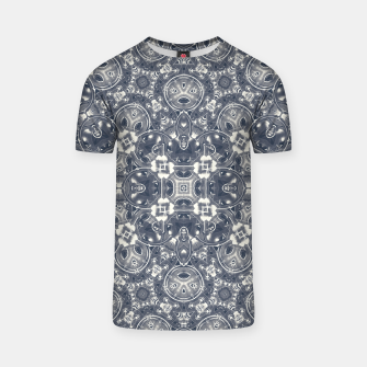 Luxury Geometric Ornate Mosaic Print T-shirt Bild der Miniatur